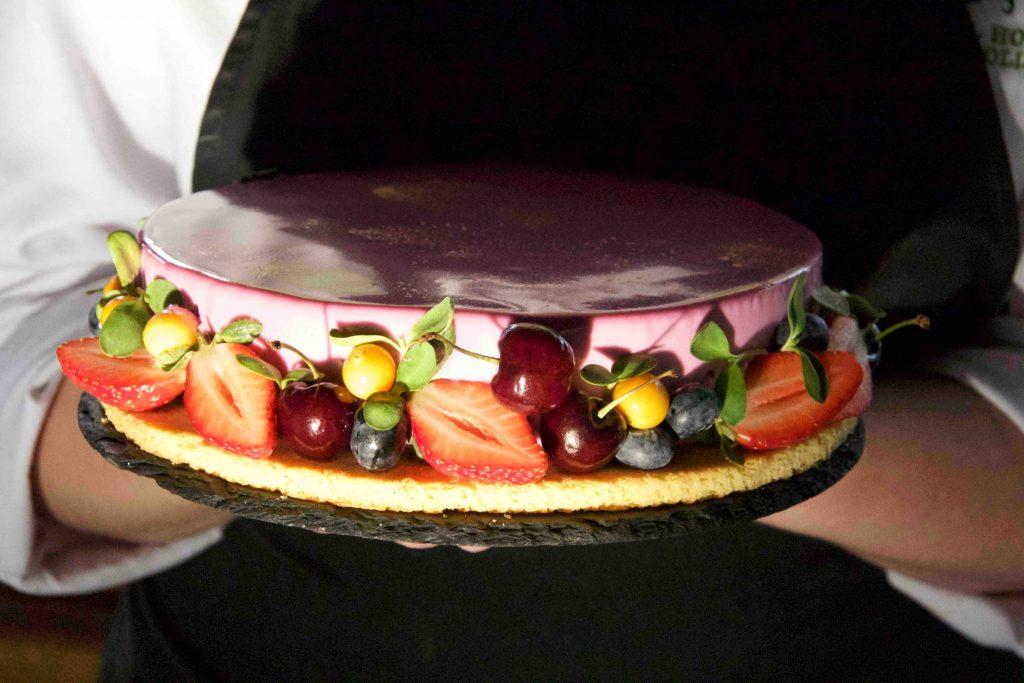 Cayley's Pink Mirror Berry Entremet